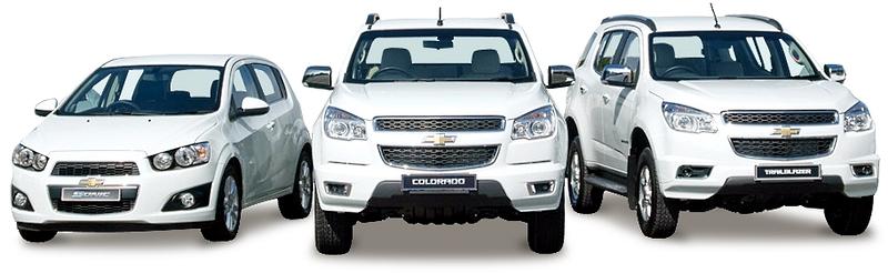 Автомобили Chevrolet на белом фоне