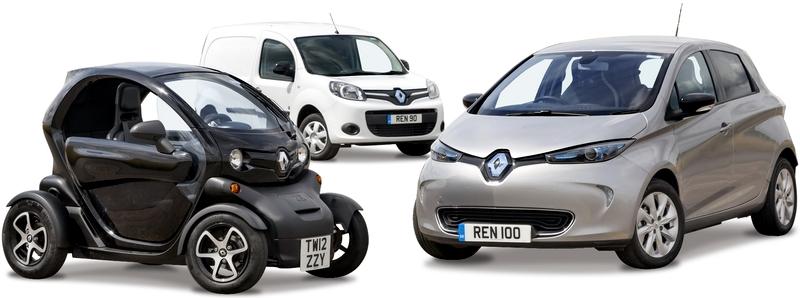 Каталог автомобилей Renault на белом фоне.