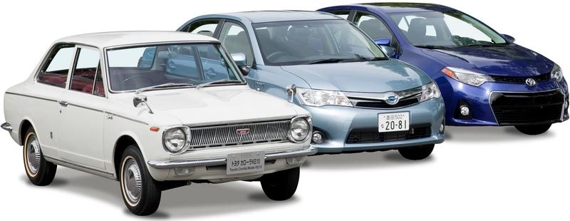 Каталог автомобилей Toyota на белом фоне.